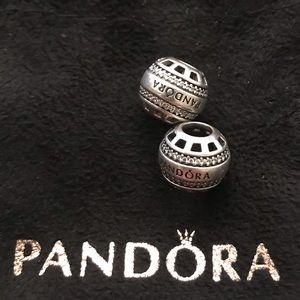 Authentic Forever Pandora CZ Charms. Set.